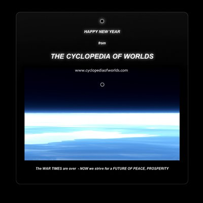 Happy New Year from Cyclopedia Of Worlds