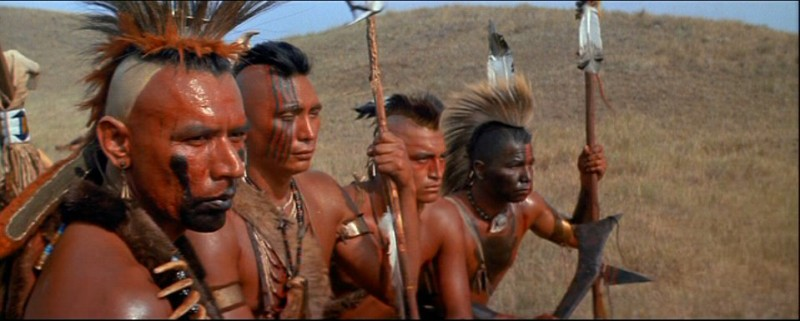 "Wes Studi (far left) in ""Dances With Wolves"""