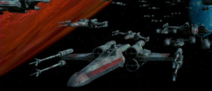 Seq. 8 - fighters approach the Death Star